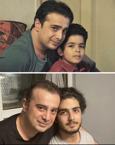 سپند امیرسلیمانی و خواهرزاده اش در گذر زمان + عکس