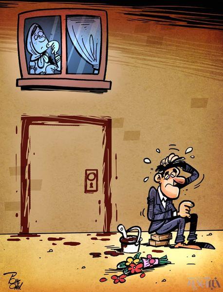 کاریکاتور/ زندگی مجردی پسرها!