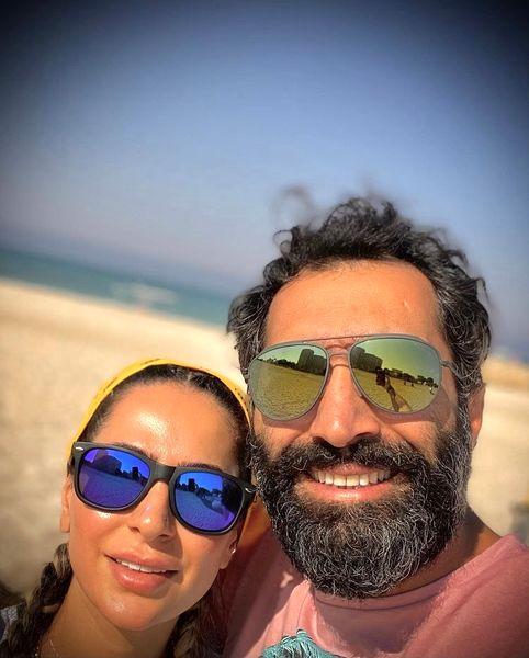 عاشقانه های هادی کاظمی و سمانه پاکدل در سواحل جزیره کیش + عکس