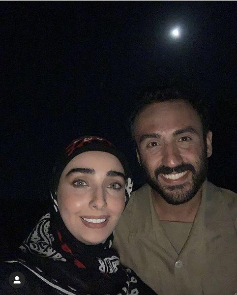 سلفی شبانه زوج جوان بازیگر + عکس