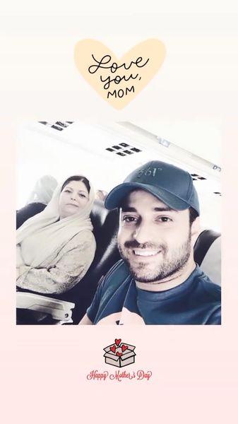 بابک جهانبخش و مادرش در سفر + عکس