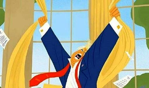 تصویر دیده نشده ترامپ/ کاریکاتور