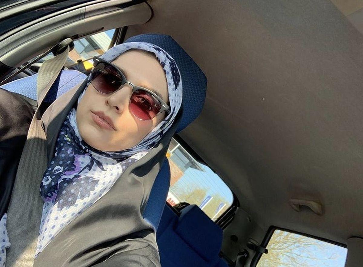 سلفی جدید مژده لواسانی در ماشینش + عکس