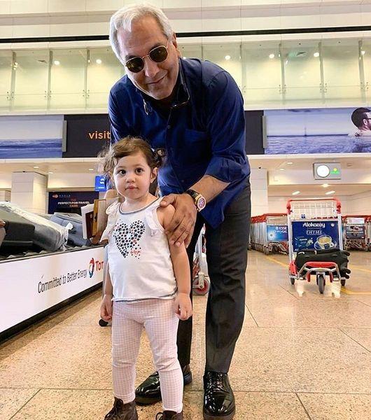 مهران مدیری با هوادار نازش در دبی