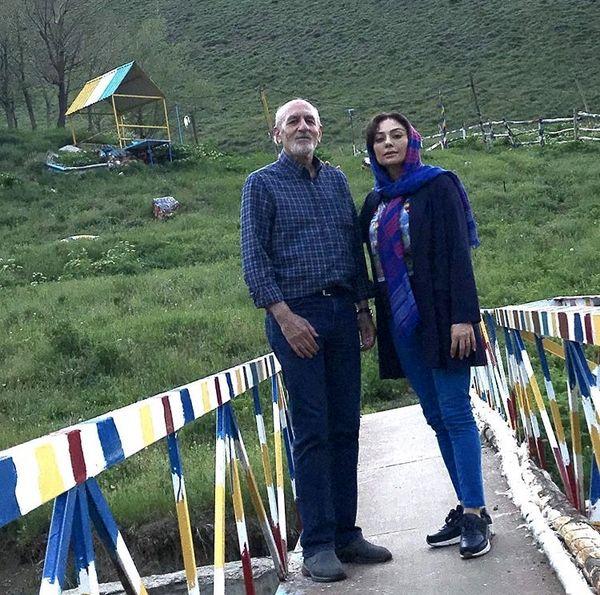 یکتا ناصر و پدرش در سفر + عکس