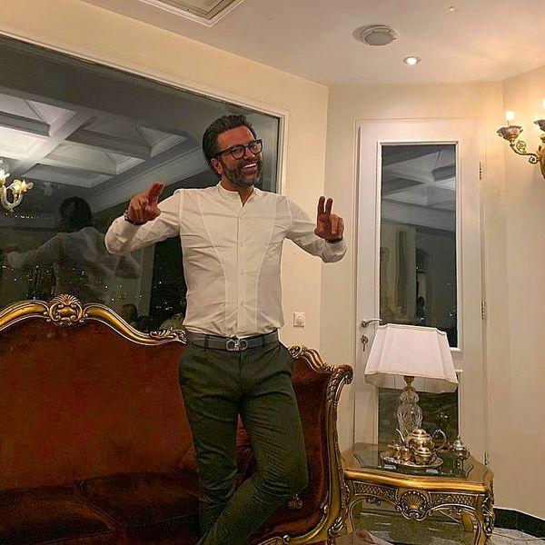 عکس خوشتیپ علیرضا نیکبخت در خانه اش