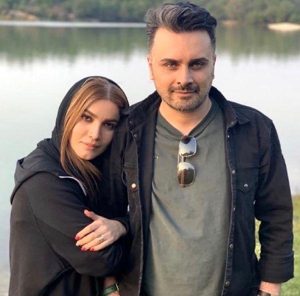 اولین عکس متین ستوده و همسرش در ماه عسل