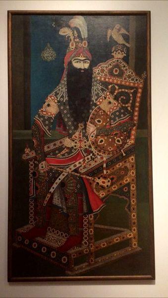 پرتره بزرگ فتحعلی شاه در کانادا (عکس)