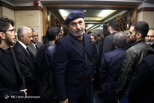 حمید فرخنژاد و جواد خیابانی در مراسم ختم خشایار الوند
