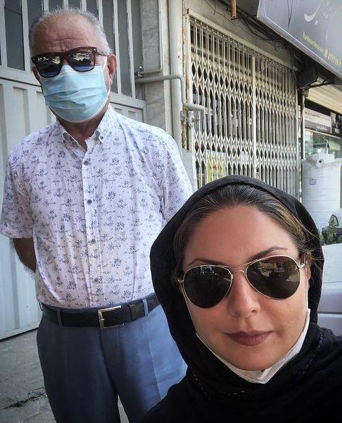 سولماز غنی و پدرش در خیابان + عکس
