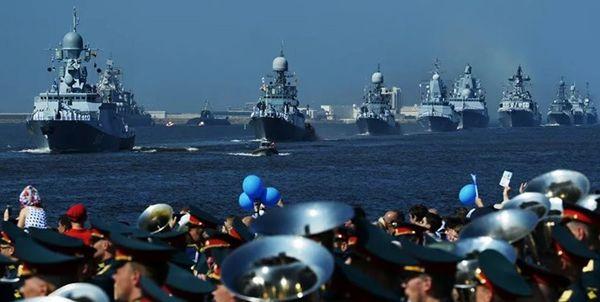 حضور ایران در رژه بزرگ دریایی روسیه