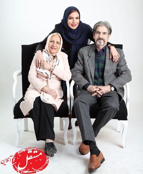 متین ستوده و پدر و مادر باکلاسش+عکس