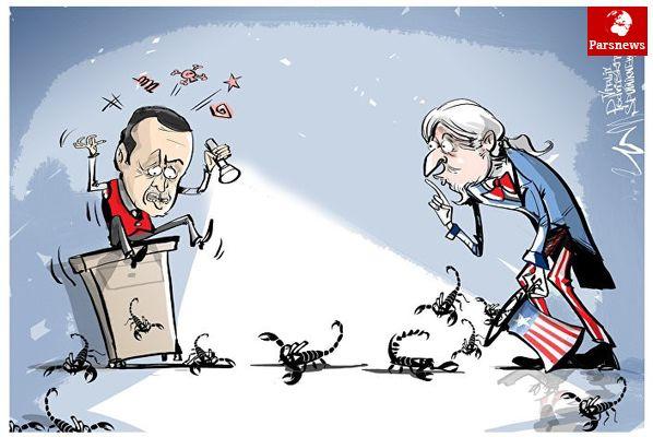 تروریسم دامن اردوغان را گرفت/کاریکاتور