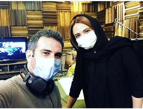 گلاره عباسی در کنار بازیگر مشهور + عکس