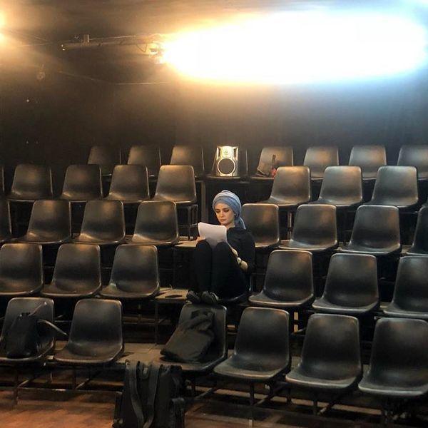 تمرین لیندا کیانی در یک سالن خالی + عکس