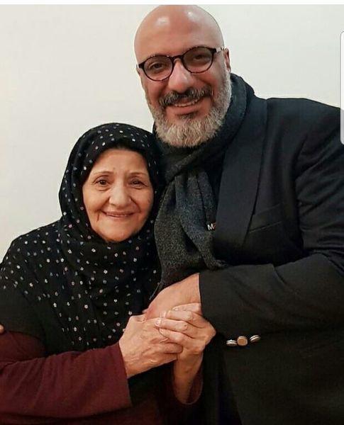 امیر جعفری و مادرش + عکس