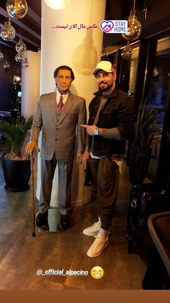 دیدار دانیال عبادی با آلپاچینوی مشهور + عکس