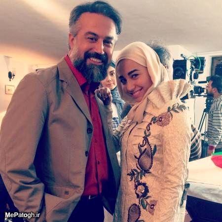 دانیال حکیمی و دخترش در پشت صحنه+عکس