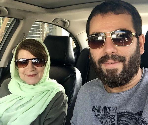 امیررضا دلاوری در کنار مادرش + عکس