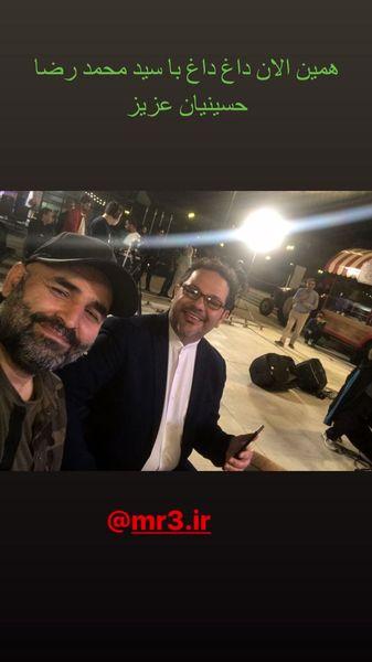 سلفی علی مسعودی با مجری مشهور شبکه سه + عکس