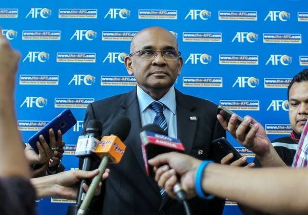 دبیرکل AFC پنج روز پیش از دیدار پرسپولیس - کاشیما در تهران