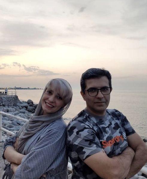 خانم بازیگر و برادرش لب دریا + عکس