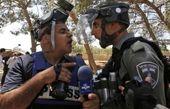 درگیری خبرنگار محلی صدا و سیما با سرباز اسرائیلی