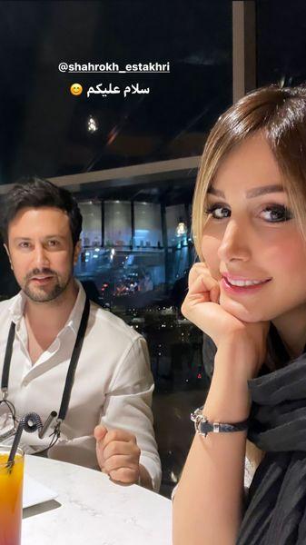 شام مادام موسیویی شاهرخ استخری و همسرش + عکس