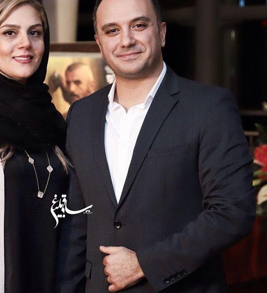 مجری بانمک ممنوع التصویر تلویزیون و همسرش+عکس