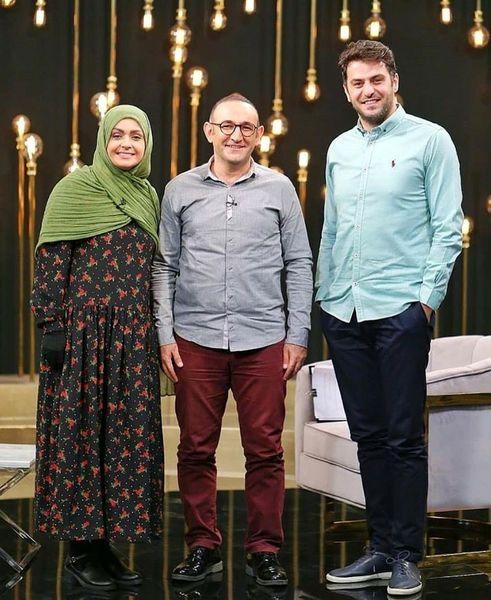 اوس موسی و خانمش با مجری خوشتیپ شبکه 1+عکس