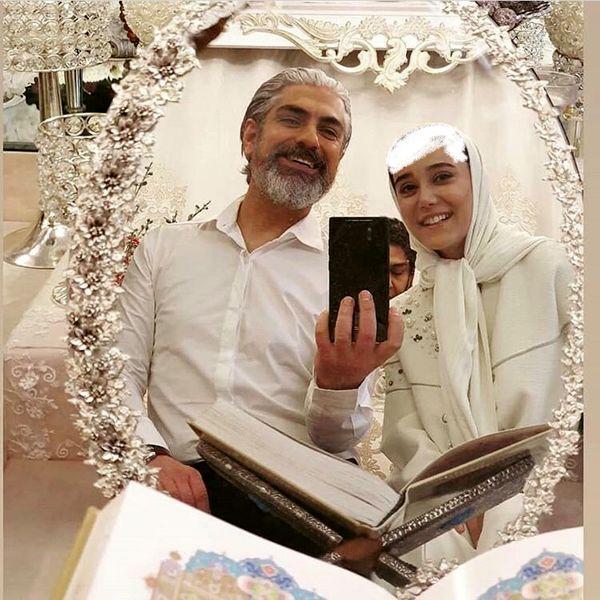 مهدی پاکدل پای سفره عقد + عکس