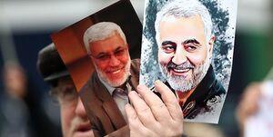 گلباران محل شهادت سرداران شهید سلیمانی و ابومهدی المهندس+ عکس