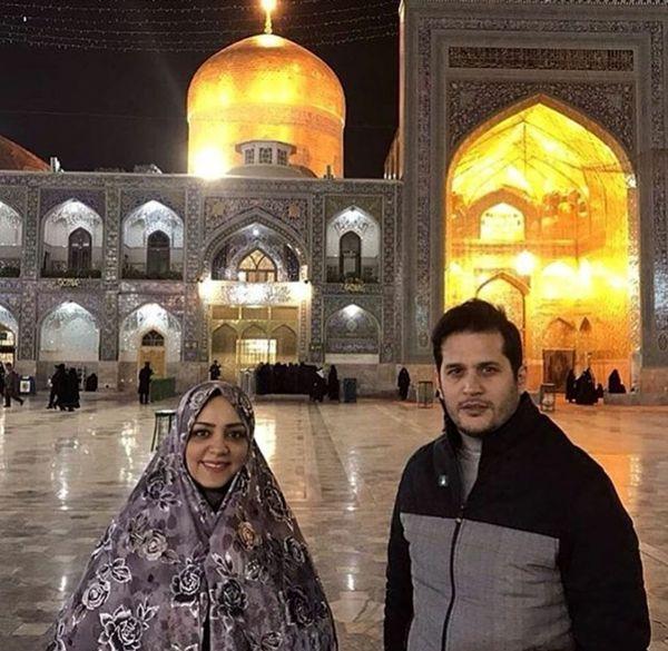 خانم و آقای بازیگر در حرم امام رضا (ع)+عکس