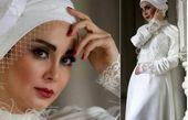 بازیگر ستایش با لباس عروس+عکس