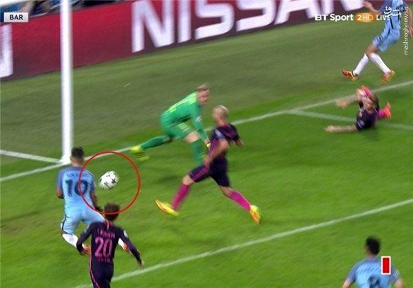 گل برتری منسیتی به بارسلونا/عکس