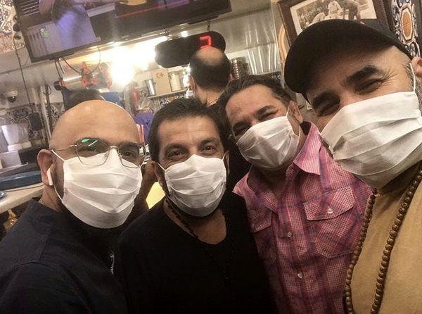 گشت و گذار آقایون بازیگر با ماسک + عکس