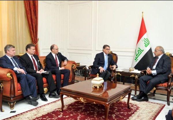 دیدار وزیر انرژی آمریکا با عادل عبدالمهدی