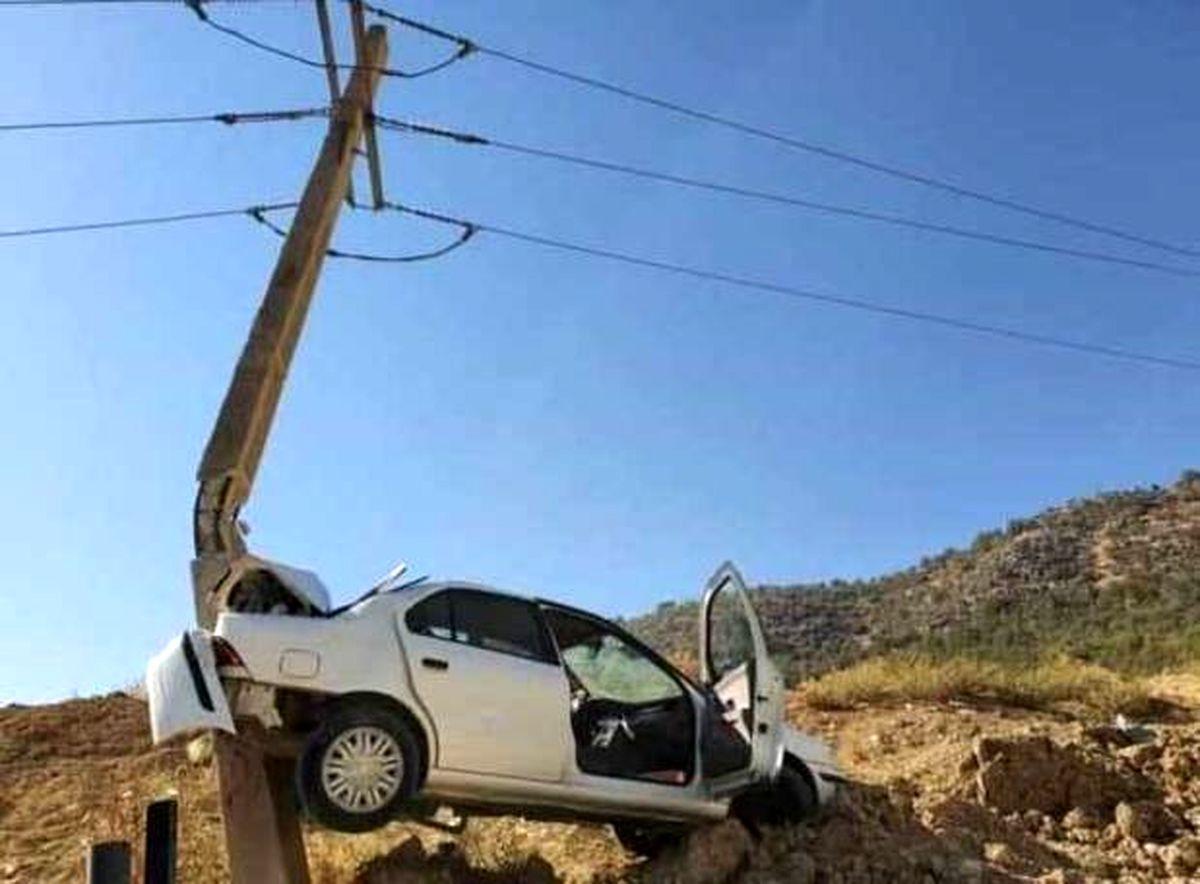 تصادف فوق العاده عجیب در یاسوج + عکس
