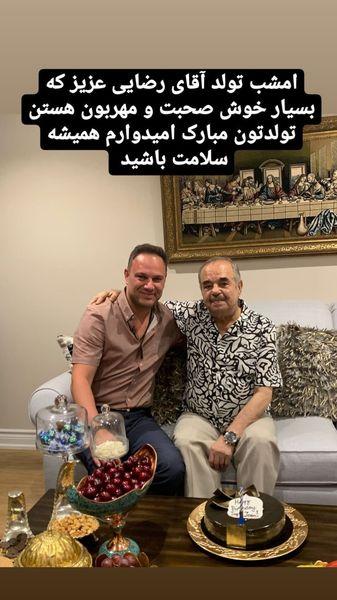 تولد ساه دوست شهروز ابراهیمی در خانه اش + عکس