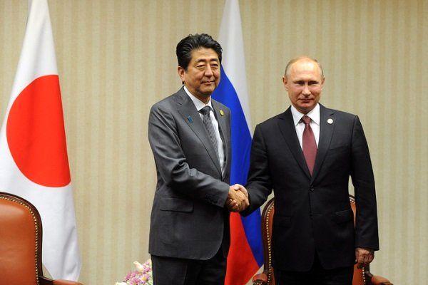 اظهارات پوتین بعد ازدیدار با شینزو آبه