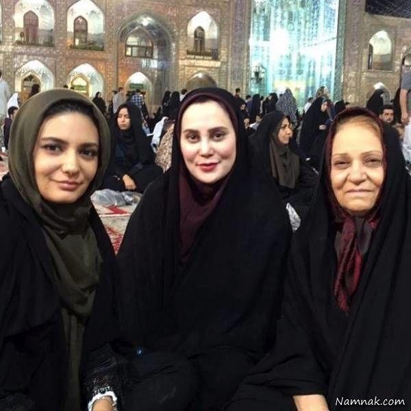 آرام جعفری در کنار لیندا کیانی و مادرش + عکس