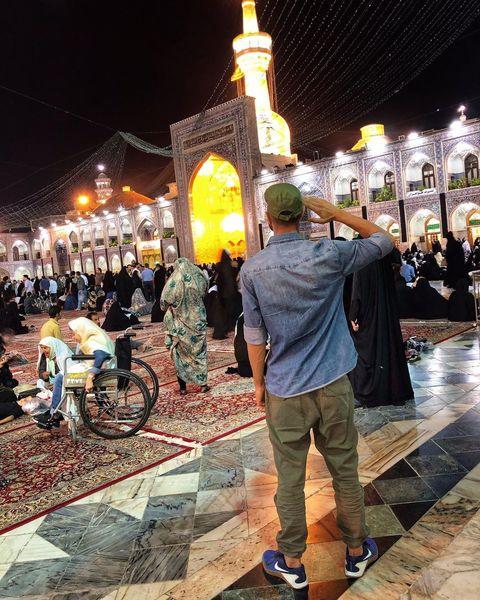 مهدی ماهانی مهمان خونه آقا امام رضا+عکس