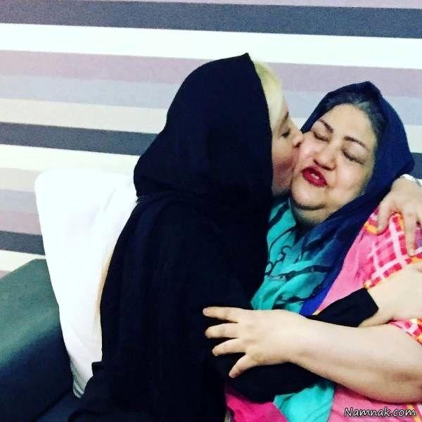 محبت خیلی عمیق فریبا نادری به مادرش!+عکس