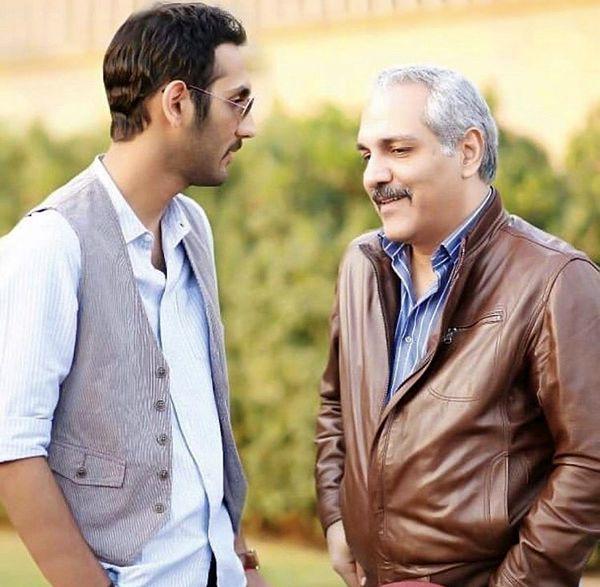 خوش و بش مهران مدیری با پسرش + عکس