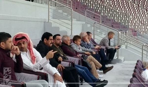 ژاوی تماشاگر ویژه بازی ایران و قطر