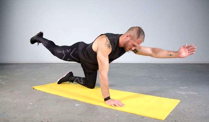 آموزش حرکت برد داگ برای ورزش در خانه