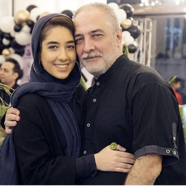 ایرج نوذری و دخترش + عکس