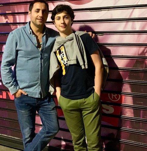 امیرحسین رستمی و پسرش+ عکس