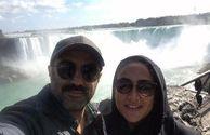 نقی و همسرش در آبشار نیاگارا+عکس