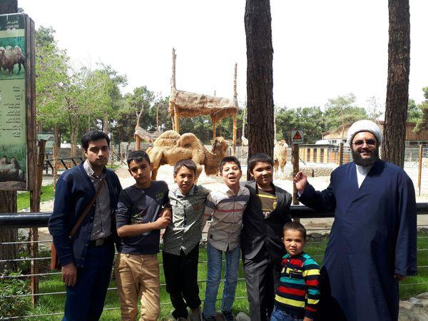 بازدید فرزندان شهدای مدافع حرم از پارک وحش ارم